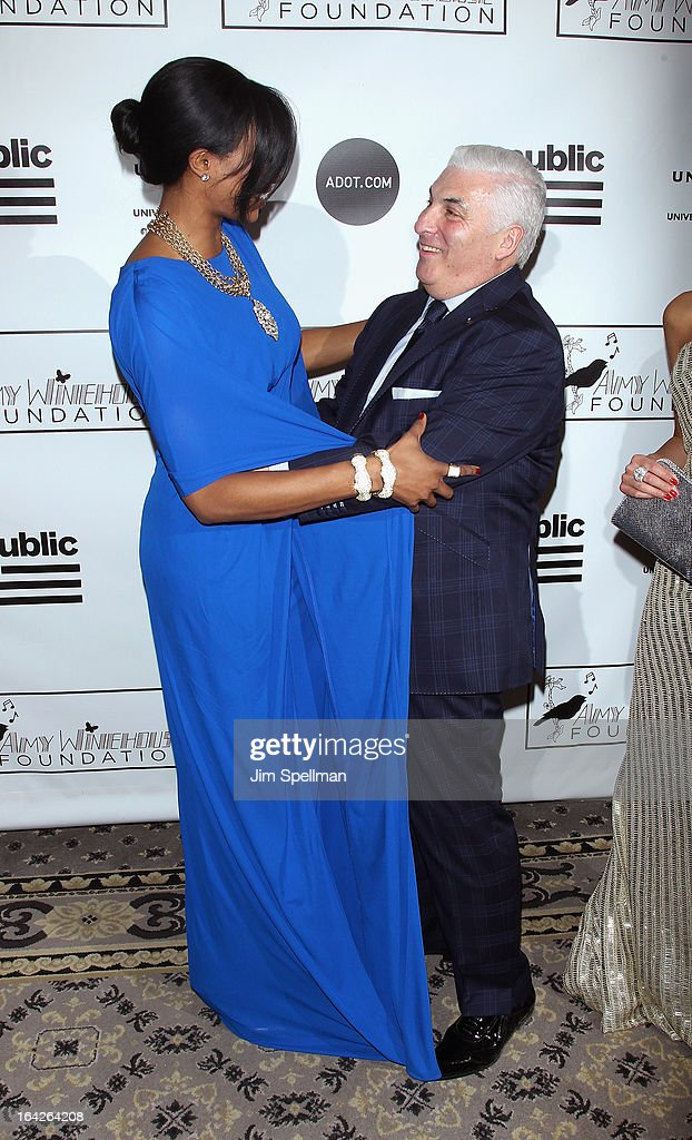 Miss USA 2012 Nana Meriwether and Mitch Winehouse attend the 2013 Amy Winehouse Foundation Inspiration Awards and Gala at The Waldorf=Astoria on March 21, 2013 in New York City.