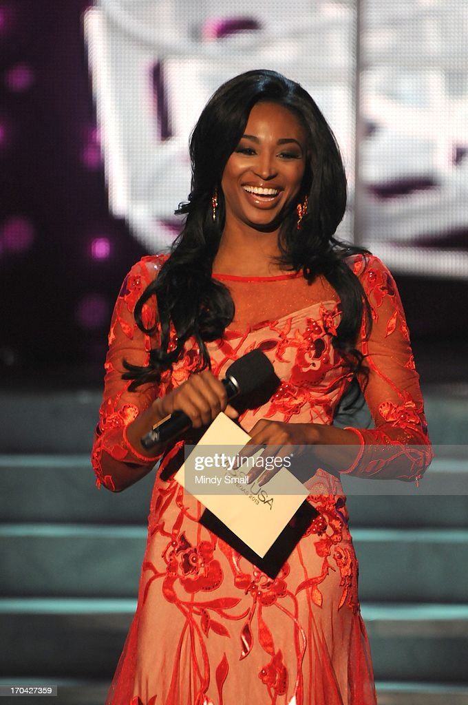 Miss USA 2012 <a gi-track='captionPersonalityLinkClicked' href=/galleries/search?phrase=Nana+Meriwether&family=editorial&specificpeople=4594046 ng-click='$event.stopPropagation()'>Nana Meriwether</a> appears at the 2013 Miss USA preliminary competition at PH Live at Planet Hollywood Resort & Casino on June 12, 2013 in Las Vegas, Nevada.