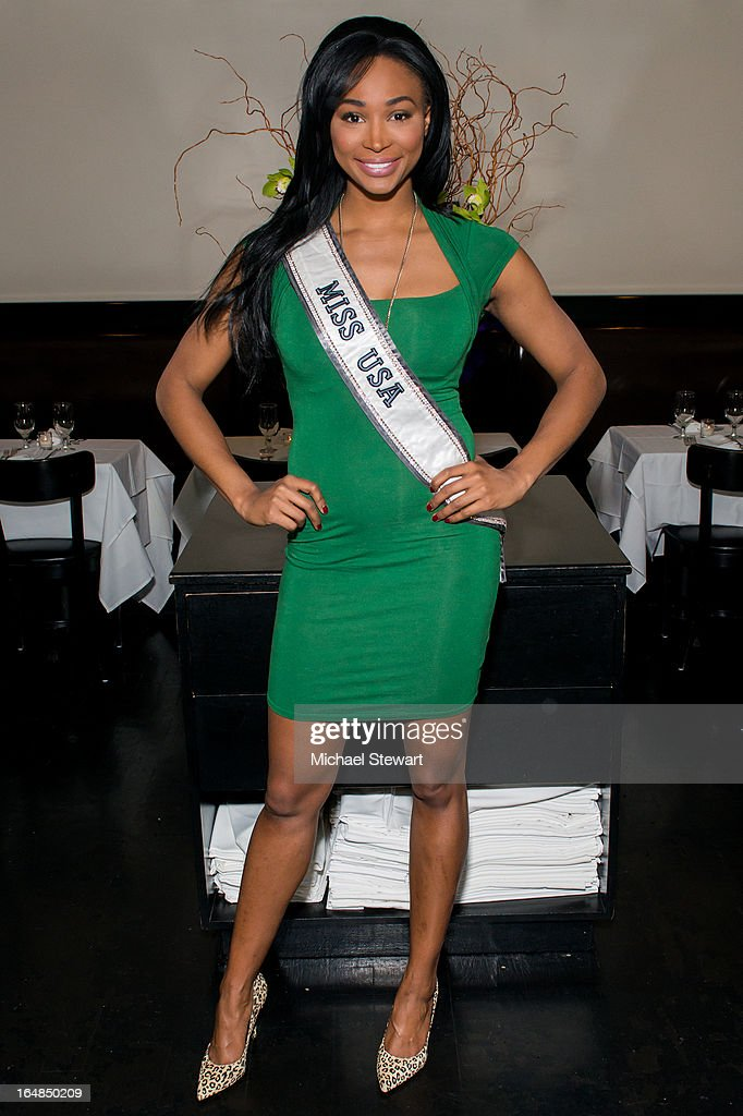 Miss USA 2012 Nana Meriwether attends an auction dinner for Hurricane Sandy Relief at Philippe Chow on March 28, 2013 in New York City.