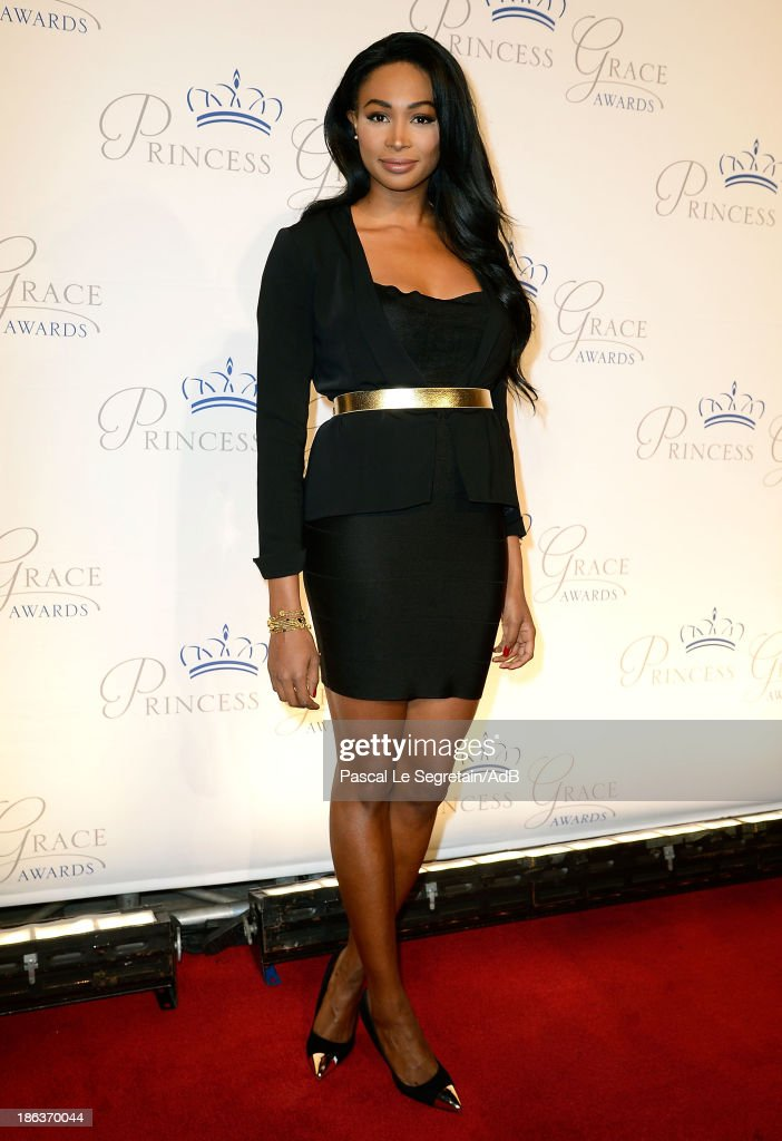 Miss USA 2012 Nana Meriwether attends the 2013 Princess Grace Awards Gala at Cipriani 42nd Street on October 30, 2013 in New York City.