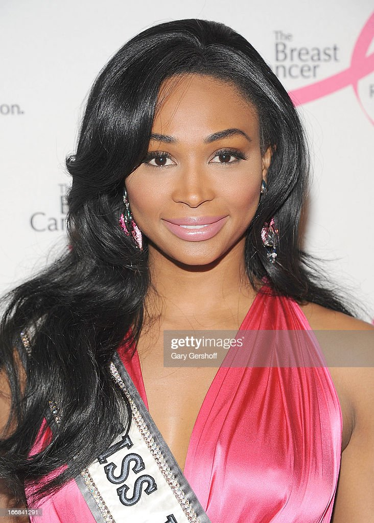 Miss USA 2012 Nana Meriwether attends The Breast Cancer Research Foundation's 2013 Hot Pink Party at The Waldorf=Astoria on April 17, 2013 in New York City.