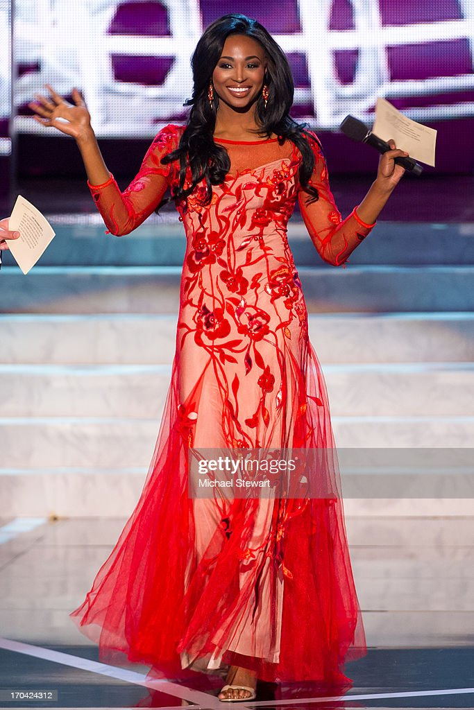 Miss USA 2012 Nana Meriwether hosts the 2013 Miss USA pageant preliminary competition at PH Live at Planet Hollywood Resort & Casino on June 12, 2013 in Las Vegas, Nevada.