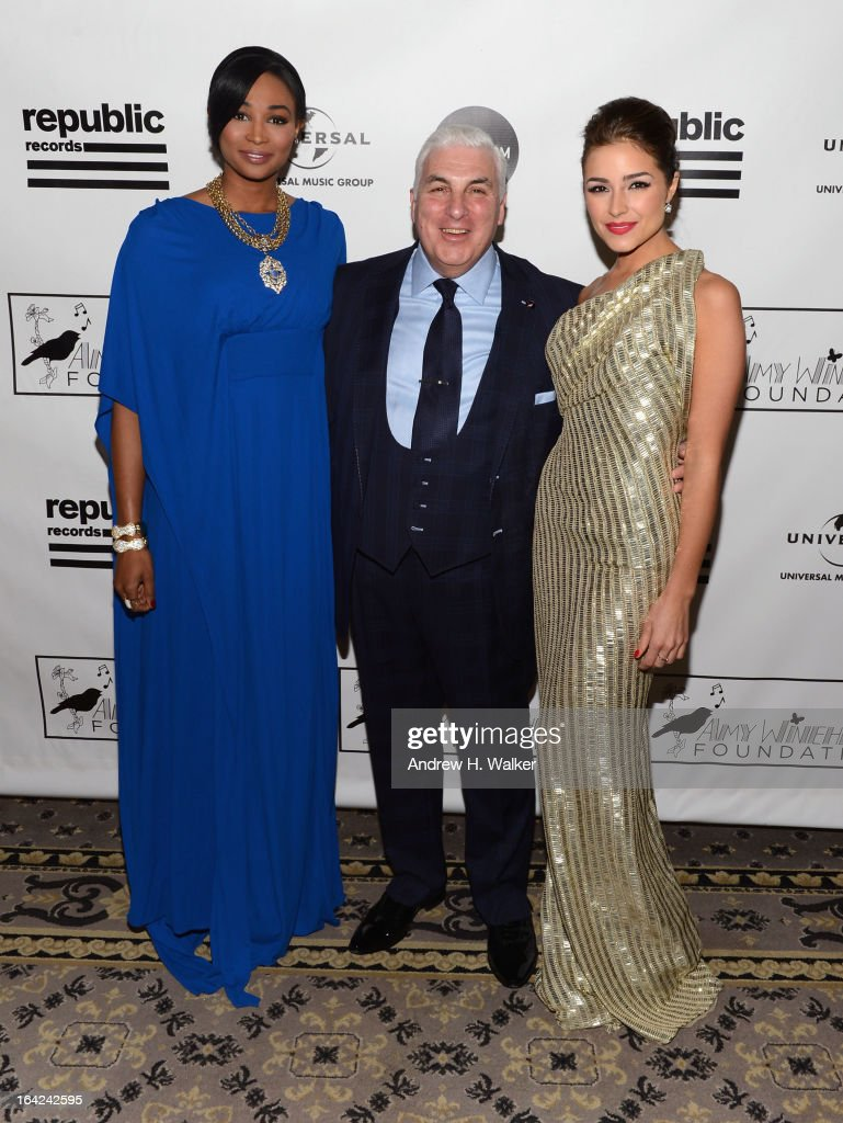 Miss USA 2012 Nana Meriwether, Mitch Winehouse, and Miss Universe 2012 <a gi-track='captionPersonalityLinkClicked' href=/galleries/search?phrase=Olivia+Culpo&family=editorial&specificpeople=9194131 ng-click='$event.stopPropagation()'>Olivia Culpo</a> attend the 2013 Amy Winehouse Foundation Inspiration Awards and Gala at The Waldorf=Astoria on March 21, 2013 in New York City.