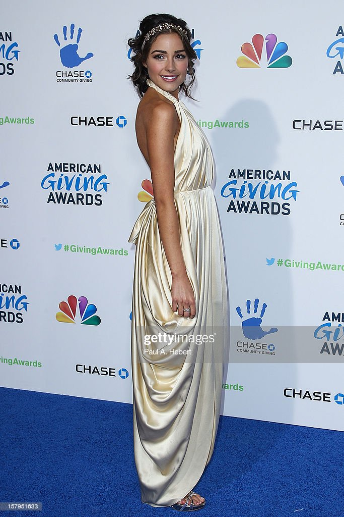 Miss USA 2012 Olivia Culpo arrives at the 2nd Annual American Giving Awards presented by Chase held at the Pasadena Civic Auditorium on December 7, 2012 in Pasadena, California.