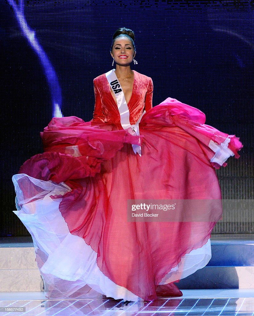 Miss USA 2012, Olivia Culpo, competes in the 2012 Miss Universe Pageant at PH Live at Planet Hollywood Resort & Casino on December 19, 2012 in Las Vegas, Nevada. Culpo went on to be crowned the new Miss Universe.