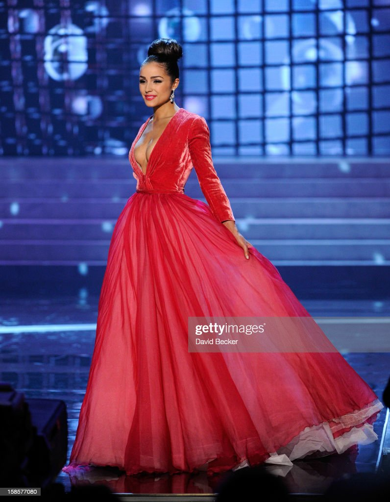 Miss USA 2012, Olivia Culpo, competes in the evening gown competition during the 2012 Miss Universe Pageant at PH Live at Planet Hollywood Resort & Casino on December 19, 2012 in Las Vegas, Nevada. Culpo went on to be crowned the new Miss Universe.