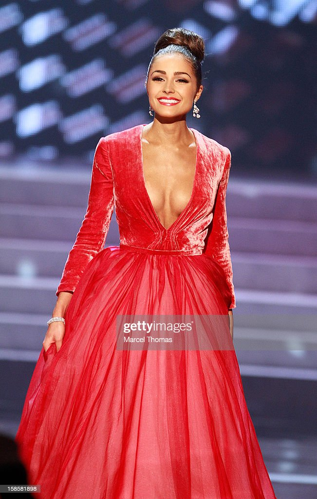 Miss USA 2012 Olivia Culpo competes in the evening gown competition during the 2012 Miss Universe Pageant at Planet Hollywood Resort & Casino on December 19, 2012 in Las Vegas, Nevada.