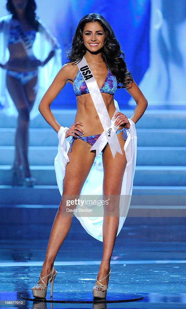Miss USA 2012, Olivia Culpo, is named a top 10 finalist during the 2012 Miss Universe Pageant at PH Live at Planet Hollywood Resort & Casino on December 19, 2012 in Las Vegas, Nevada. Culpo went on to be crowned the new Miss Universe.