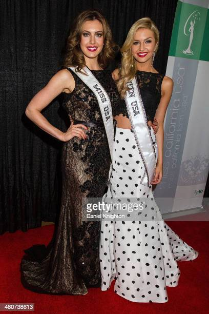 Miss USA 2013 and Miss Teen USA Cassidy Wolf arrive at the Miss California USA Pageant at Terrace Theater on January 4 2014 in Long Beach California