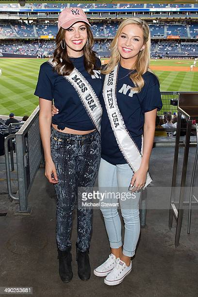 Miss USA 2013 Erin Brady and Miss Teen USA 2013 Cassidy Wolf seen at the New York Mets vs New York Yankees game on May 13 2014 in New York City
