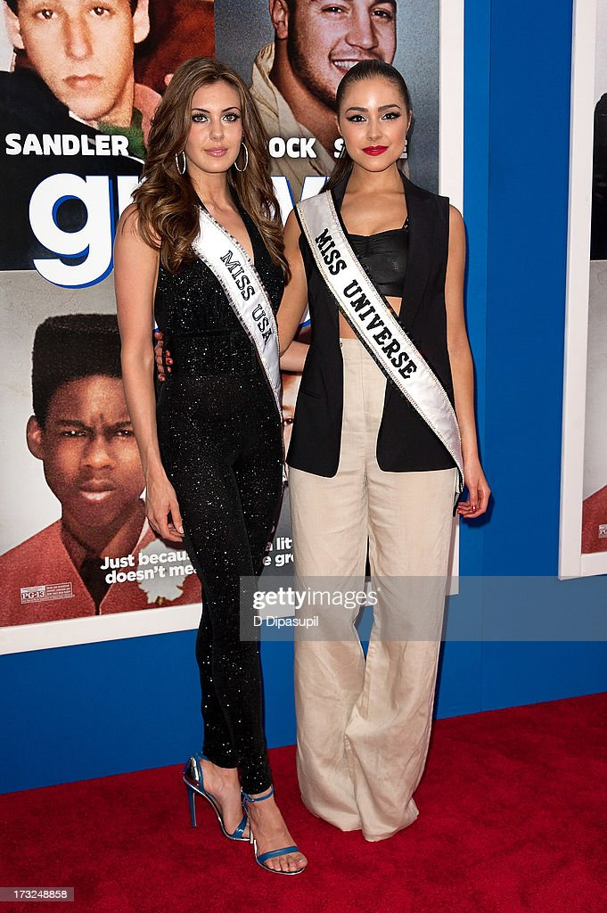 Miss USA 2013 Erin Brady (L) and Miss Universe 2012 Olivia Culpo attend the 'Grown Ups 2' New York Premiere at AMC Lincoln Square Theater on July 10, 2013 in New York City.