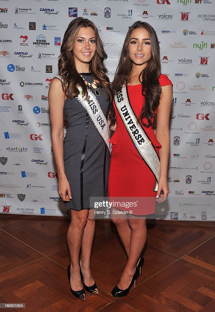 Miss USA 2013 Erin Brady and Miss Universe 2012 <a gi-track='captionPersonalityLinkClicked' href=/galleries/search?phrase=Olivia+Culpo&family=editorial&specificpeople=9194131 ng-click='$event.stopPropagation()'>Olivia Culpo</a> attend the 2013 Cantor Fitzgerald And BGC Partners Charity Day at Cantor Fitzgerald on September 11, 2013 in New York City.