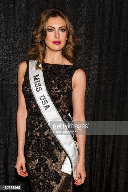 Miss USA 2013 Erin Brady arrives at the Miss California USA 2014 Pageant at Terrace Theater on January 4 2014 in Long Beach California