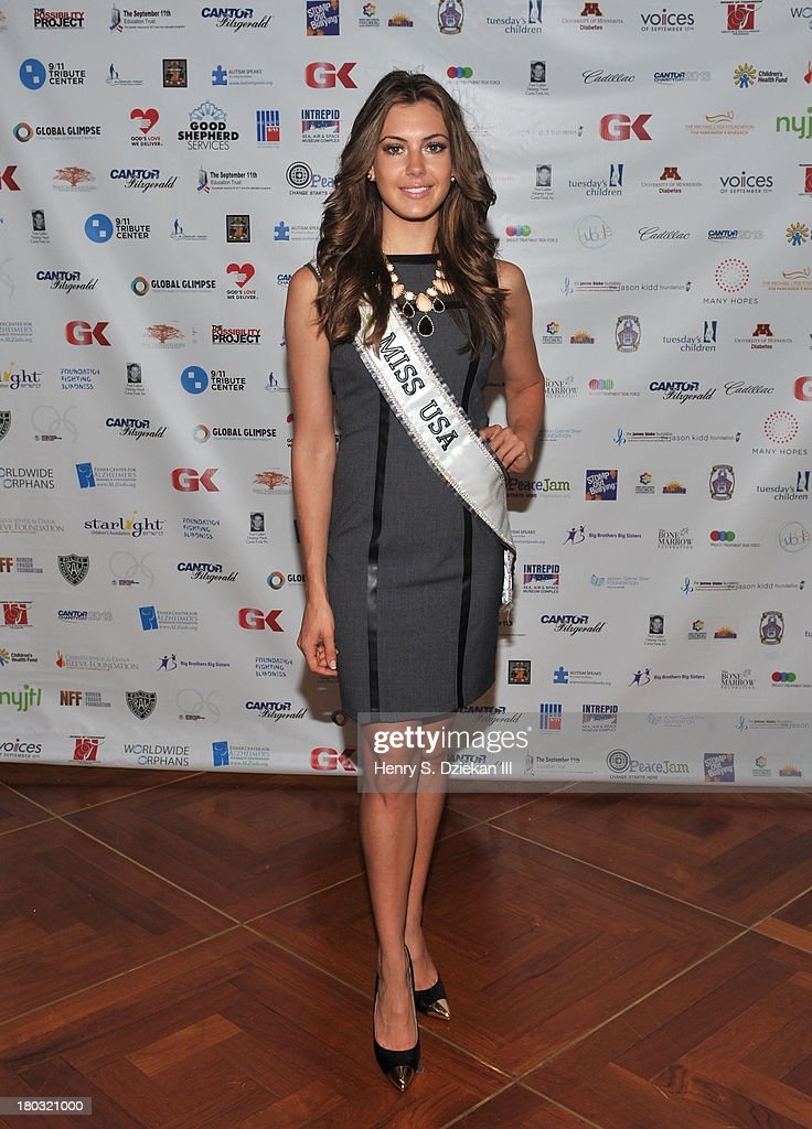 Miss USA 2013 Erin Brady attends the 2013 Cantor Fitzgerald And BGC Partners Charity Day at Cantor Fitzgerald on September 11, 2013 in New York City.