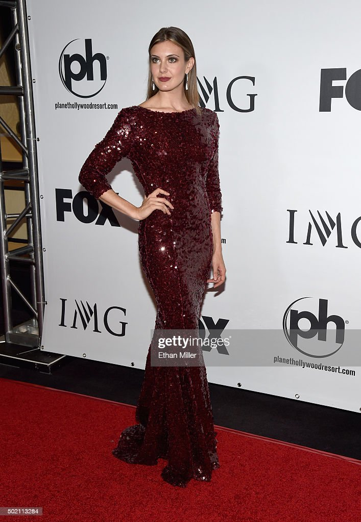 Miss USA 2013 <a gi-track='captionPersonalityLinkClicked' href=/galleries/search?phrase=Erin+Brady+-+Miss+USA+2013&family=editorial&specificpeople=11009508 ng-click='$event.stopPropagation()'>Erin Brady</a> attends the 2015 Miss Universe Pageant at Planet Hollywood Resort & Casino on December 20, 2015 in Las Vegas, Nevada.