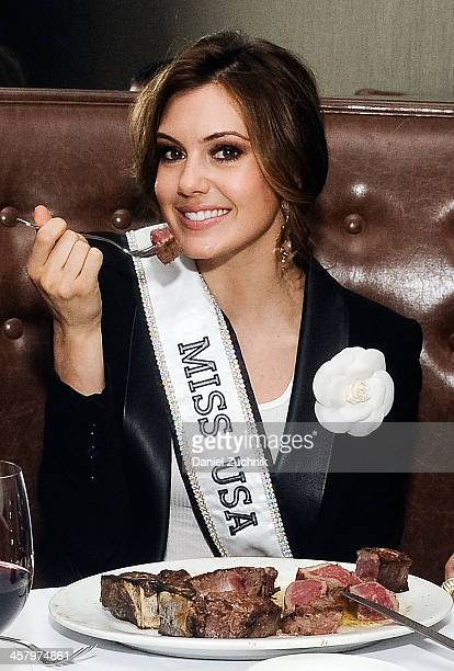 Miss USA 2013 Erin Brady attends the Empire Steak House ribbon cutting ceremony at Empire Steak House on December 19 2013 in New York City