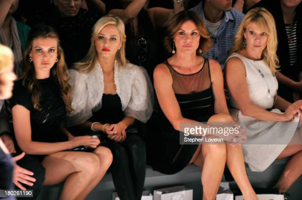 Miss USA 2013 Erin Brady Miss Teen USA 2013 Cassidy Wolf LuAnn de Lesseps and Ramona Singer attend the Zang Toi fashion show during MercedesBenz...