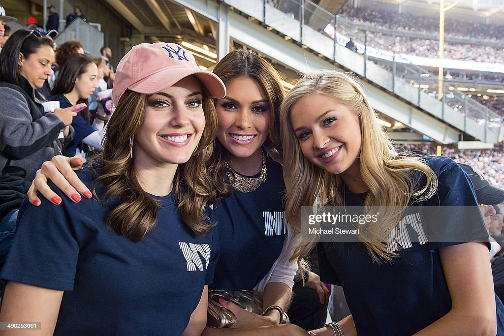 Miss USA 2013 Erin Brady, Miss Universe 2013 Gabriela Isler and Miss Teen USA 2013 <a gi-track='captionPersonalityLinkClicked' href=/galleries/search?phrase=Cassidy+Wolf&family=editorial&specificpeople=10468223 ng-click='$event.stopPropagation()'>Cassidy Wolf</a> seen at the New York Mets vs New York Yankees game on May 13, 2014 in New York City.