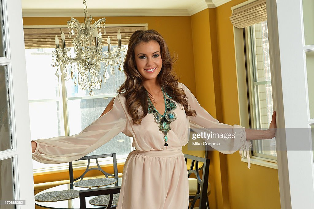 Miss USA 2013 <a gi-track='captionPersonalityLinkClicked' href=/galleries/search?phrase=Erin+Brady+-+Miss+USA+2013&family=editorial&specificpeople=11009508 ng-click='$event.stopPropagation()'>Erin Brady</a> poses during a photo shoot on June 19, 2013 in New York City.