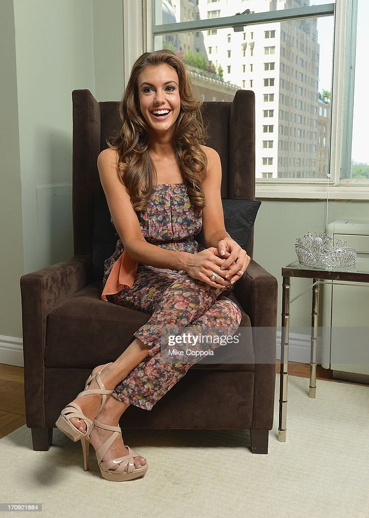 Miss USA 2013 Erin Brady poses during a photo shoot on June 19, 2013 in New York City.