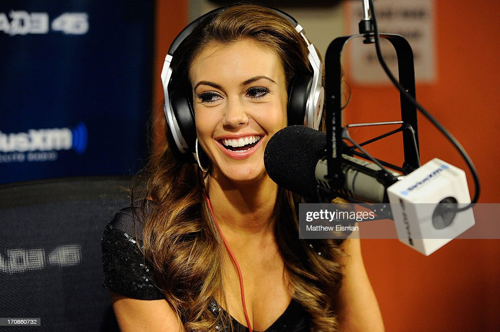 Miss USA 2013 Erin Brady visits 'Sway in the Morning' on Eminem's Shade 45 channel in the SiriusXM Studios on June 19, 2013 in New York City.