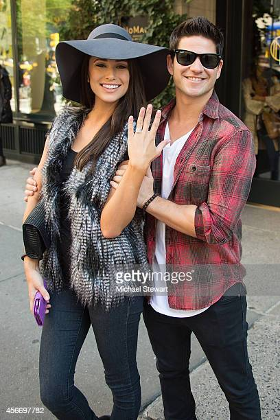 Miss USA 2014 Nia Sanchez and actor Daniel Booko seen on the streets of Manhattan on October 5 2014 in New York City Daniel Booko proposed to Nia...
