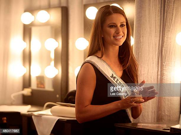 Miss USA 2014 Nia Sanchez attends the 2015 Miss USA Pageant Only On ReelzChannel at The Baton Rouge River Center on July 11 2015 in Baton Rouge...