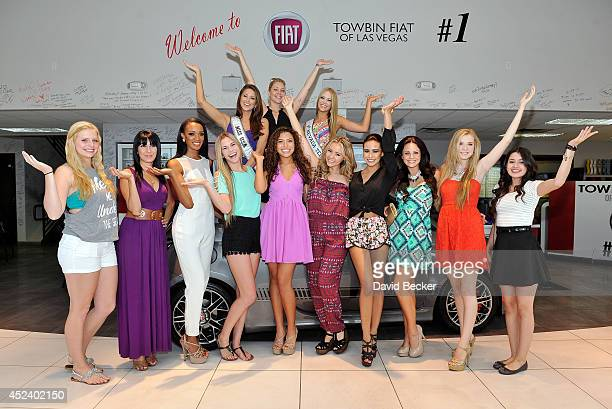 Miss USA 2014 Nia Sanchez Miss Nevada USA Executive Director Shanna Moakler and Miss Nevada Teen USA 2014 Alexa Taylor appear at an official Miss...