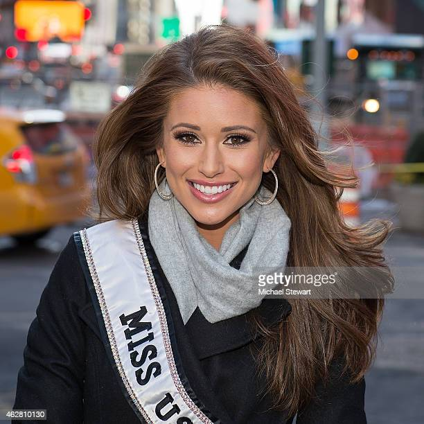Miss USA 2014 Nia Sanchez seen in Times Square on February 5 2015 in New York City
