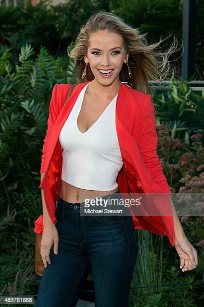 Miss USA 2015 Olivia Jordan arrives at People StyleWatch Fall Fashion Party on August 12 2015 in New York City