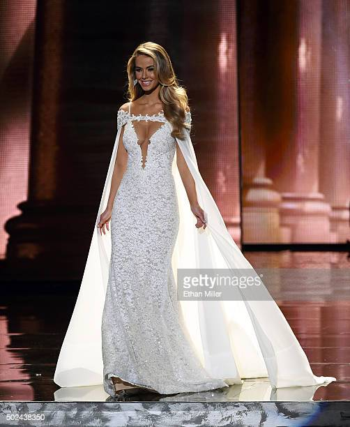 Miss USA 2015 Olivia Jordan competes in the evening gown competition during the 2015 Miss Universe Pageant at The Axis at Planet Hollywood Resort...