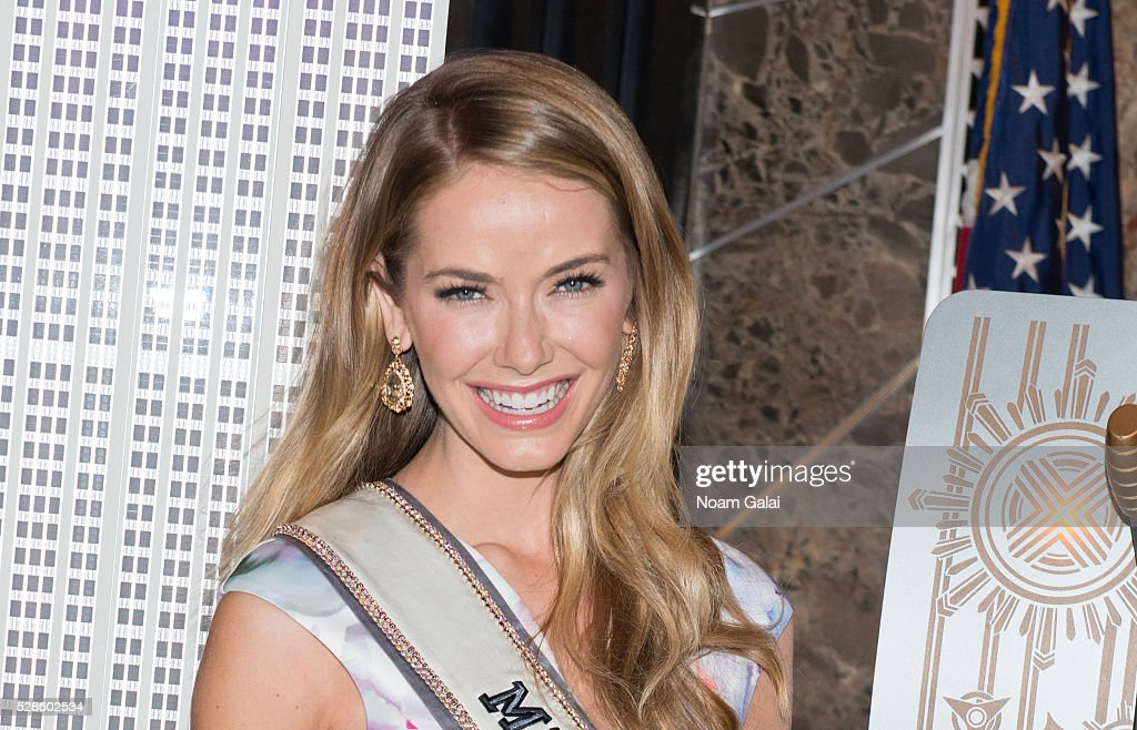Miss USA 2015 <a gi-track='captionPersonalityLinkClicked' href=/galleries/search?phrase=Olivia+Jordan&family=editorial&specificpeople=9445833 ng-click='$event.stopPropagation()'>Olivia Jordan</a> lights the Empire State Building to raise awareness of the Alzheimer's disease on May 06, 2016 in New York, New York.