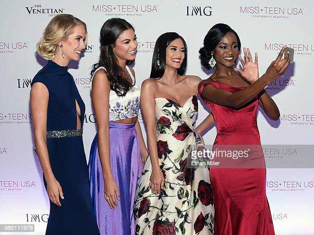 Miss USA 2015 Olivia Jordan Miss Teen USA 2015 Katherine Haik Miss Universe 2015 Pia Alonzo Wurtzbach and Miss USA 2016 Deshauna Barber send a...