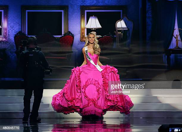 Miss USA 2015 Olivia Jordan Miss USA 2015 Olivia Jordan walks onstage at 2015 Miss USA Pageant Only On ReelzChannel at The Baton Rouge River Center...