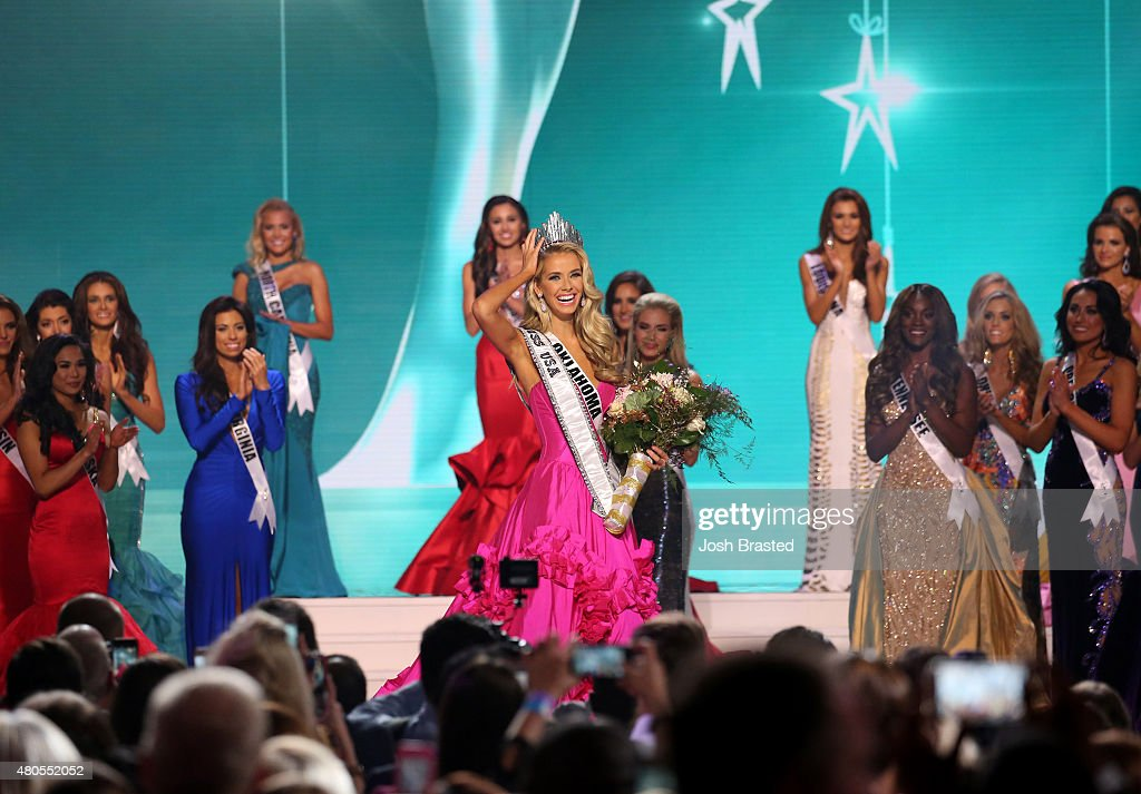 Miss USA 2015 Olivia Jordan of Oklahoma is crowned at the 2015 Miss USA Pageant Only On ReelzChannel at The Baton Rouge River Center on July 12, 2015 in Baton Rouge, Louisiana.
