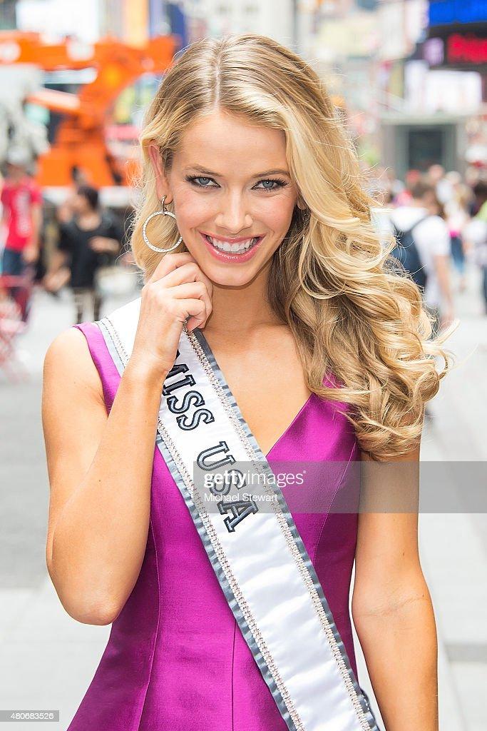Miss USA 2015 Olivia Jordan Arrives In New York City