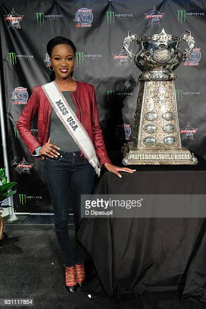 Miss USA 2016 Deshauna Barber attends the 2017 Professional Bull Riders Monster Energy Buck Off at the Garden at Madison Square Garden on January 6...