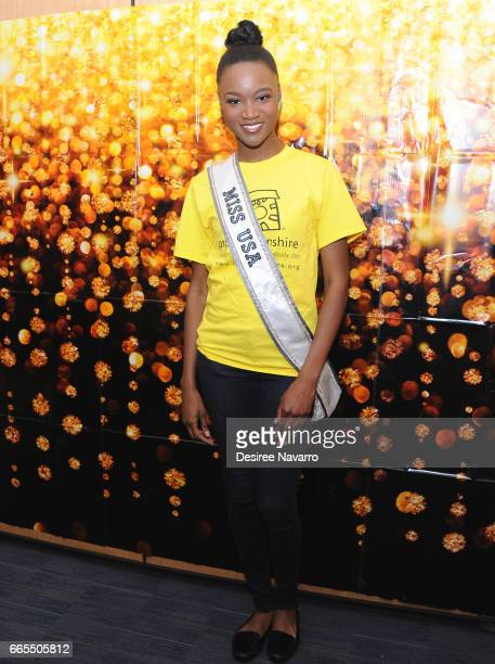 Miss USA 2016 Deshauna Barber attends the Hospital For Special Surgery Project Sunshine Host Girls' Night Out at Hospital For Special Surgery on...