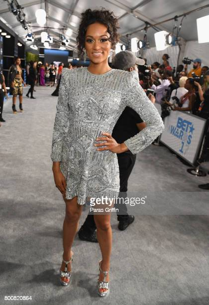 Miss USA 2017 Kara McCullough at the 2017 BET Awards at Staples Center on June 25 2017 in Los Angeles California