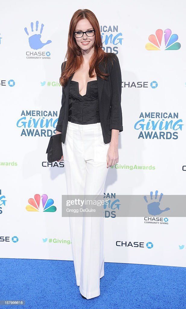 Miss USA Alyssa Campanella arrives at the 2nd Annual American Giving Awards at the Pasadena Civic Auditorium on December 7, 2012 in Pasadena, California.