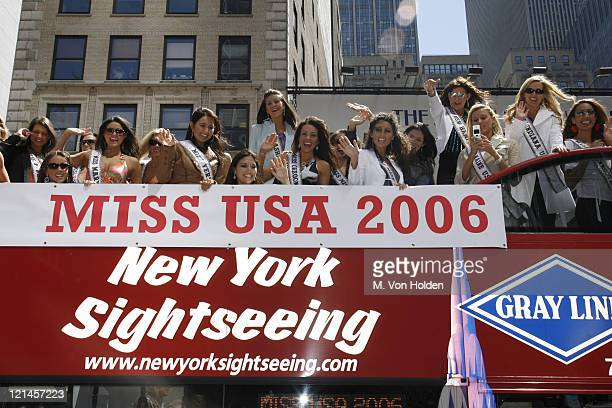 Miss USA Contestants during 51 Miss USA Contestants visit Mars 2112 in Times Square at MArs 2112 in Manhattan New York United States