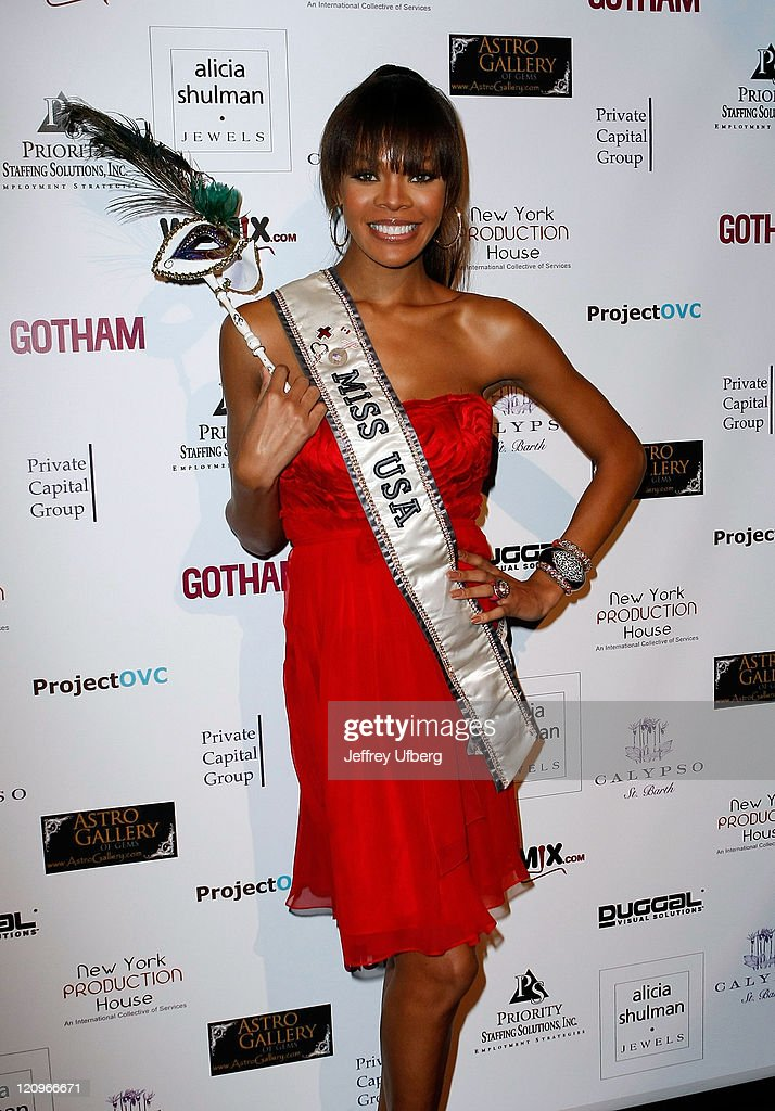 Miss USA Crystle Stewart attends the ProjectOVC Halloween Masquerade Ball and fundraiser at The Imperial on October 29 2008 in New York City