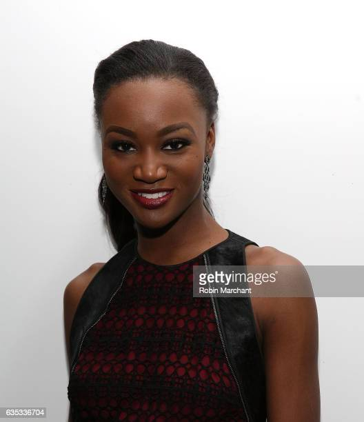 Miss USA Deshauna Barber attends Carmen Marc Valvo during New York Fashion Week on February 14 2017 in New York City