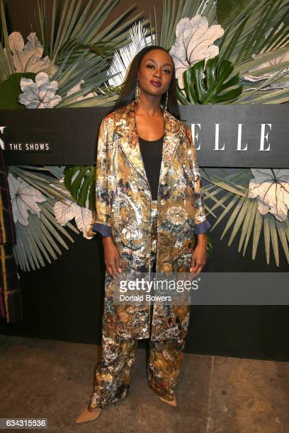 Miss USA Deshauna Barber attends E ELLE IMG celebration to kickoff NYFW The Shows on February 8 2017 in New York City
