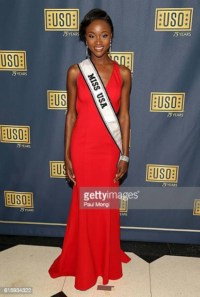 Miss USA Deshauna Barber attends the 2016 USO Gala on October 20 2016 at DAR Constitution Hall in Washington DC