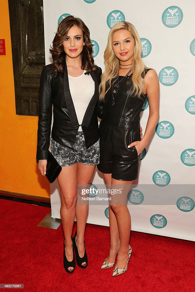 Miss USA Erin Brady and Miss Teen USA Cassidy Marie Wolf attend the 6th Annual Shorty Awards on April 7, 2014 in New York City.