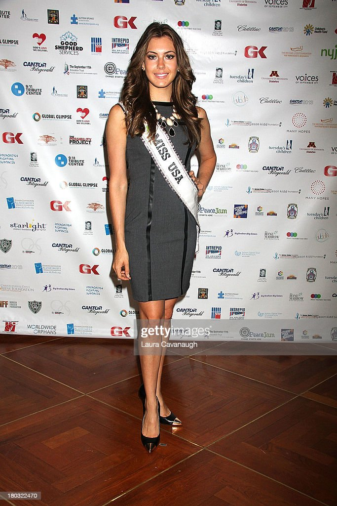 Miss USA Erin Brady attends Cantor Fitzgerald And BGC Partners Annual Charity Day at Cantor Fitzgerald on September 11, 2013 in New York City.