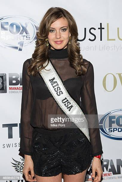 Miss Usa Erin Brady attends the 2014 Super Bowl Kickoff Players Party at Pranna Restaurant on January 29 2014 in New York City