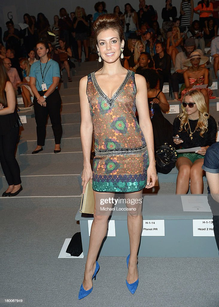 Miss USA Erin Brady attends the Custo Barcelona fashion show during Mercedes-Benz Fashion Week Spring 2014 at The Stage at Lincoln Center on September 8, 2013 in New York City.