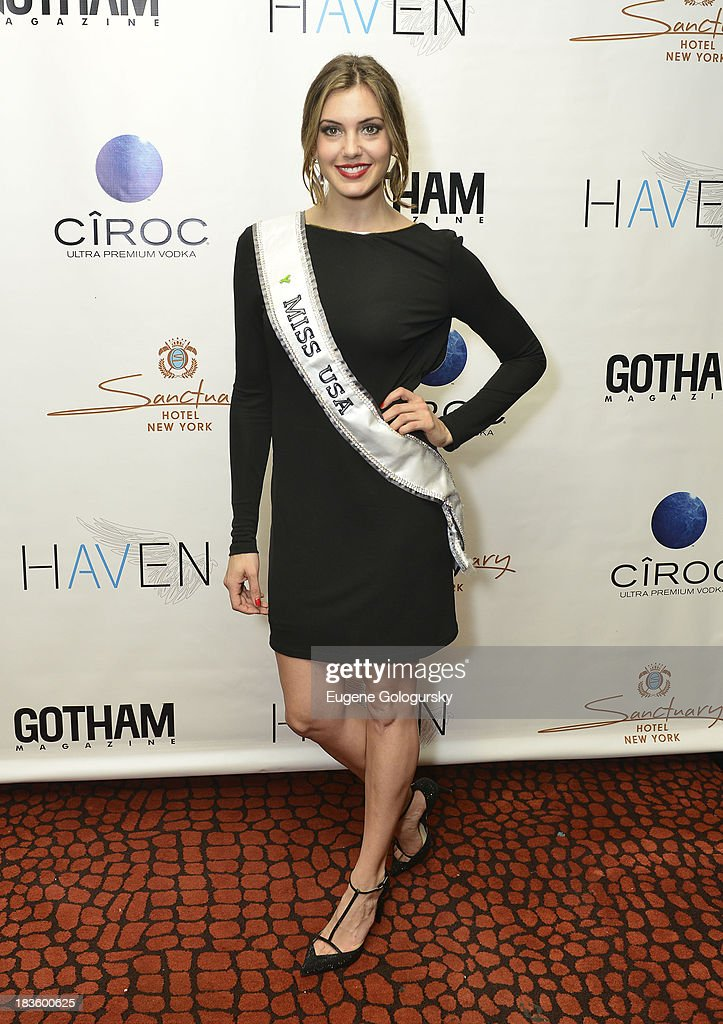Miss USA <a gi-track='captionPersonalityLinkClicked' href=/galleries/search?phrase=Erin+Brady+-+Miss+USA+2013&family=editorial&specificpeople=11009508 ng-click='$event.stopPropagation()'>Erin Brady</a> attends the Gotham Magazine Celebration of Its October Cover Star, Seth Meyers Powered by CIROC Vodka at the Sanctuary Hotel on October 7, 2013 in New York City.